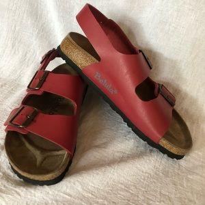 Red Birkenstock Betula Milano Sandals